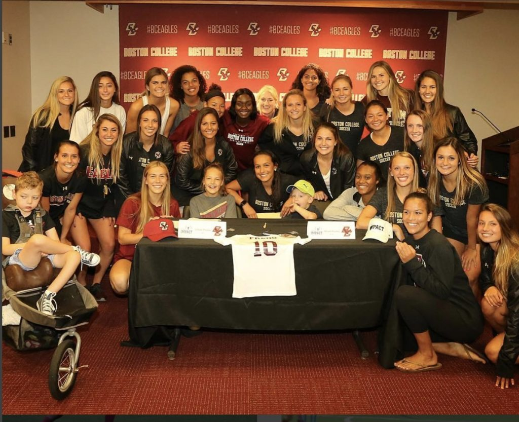 Team Impact and BC Women's Soccer