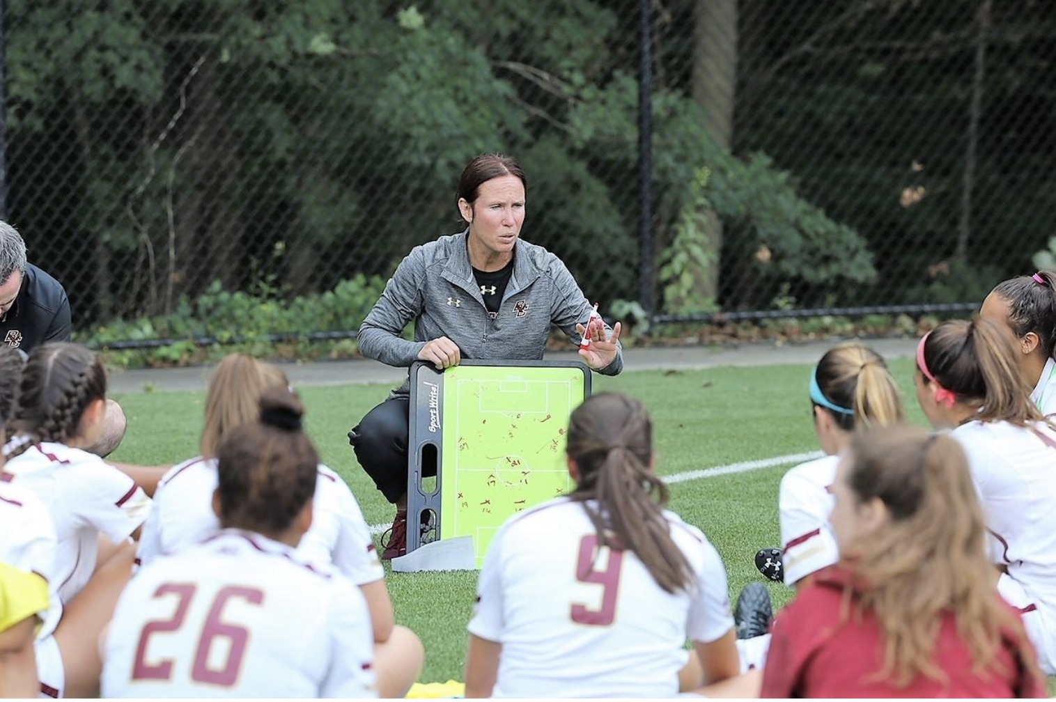 Newton Tab: Boston College soccer coach Alison Foley co-authors book on coaching girls