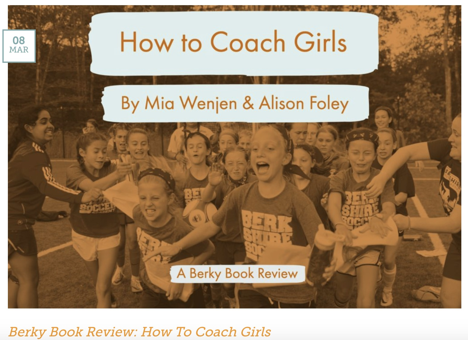 Berkshire Soccer Academy book review HOW TO COACH GIRLS