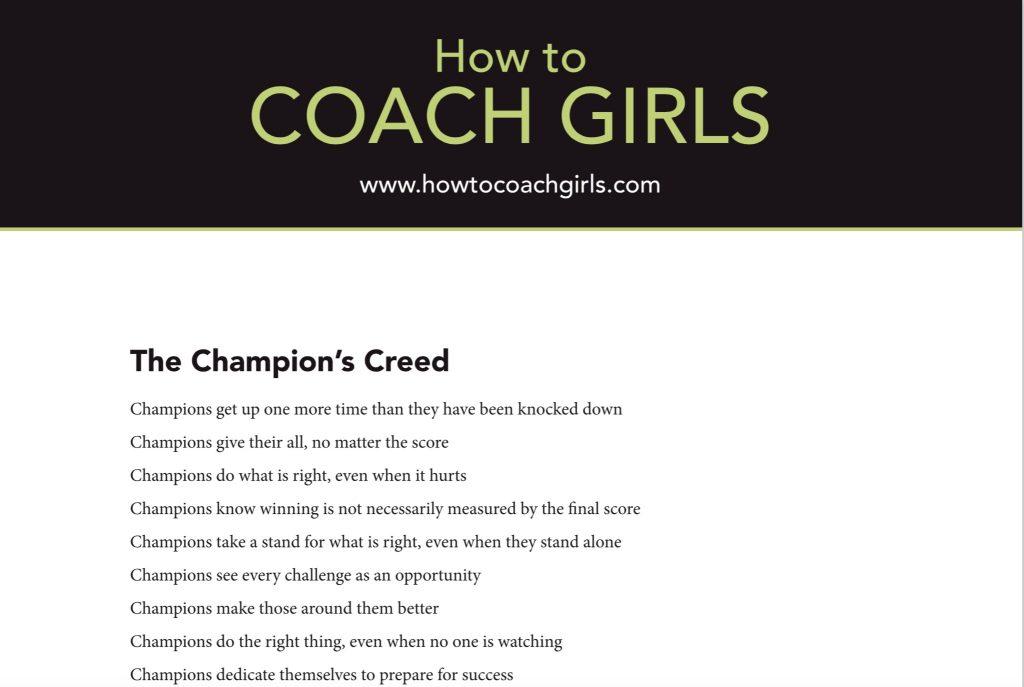 Champions Creed Printable