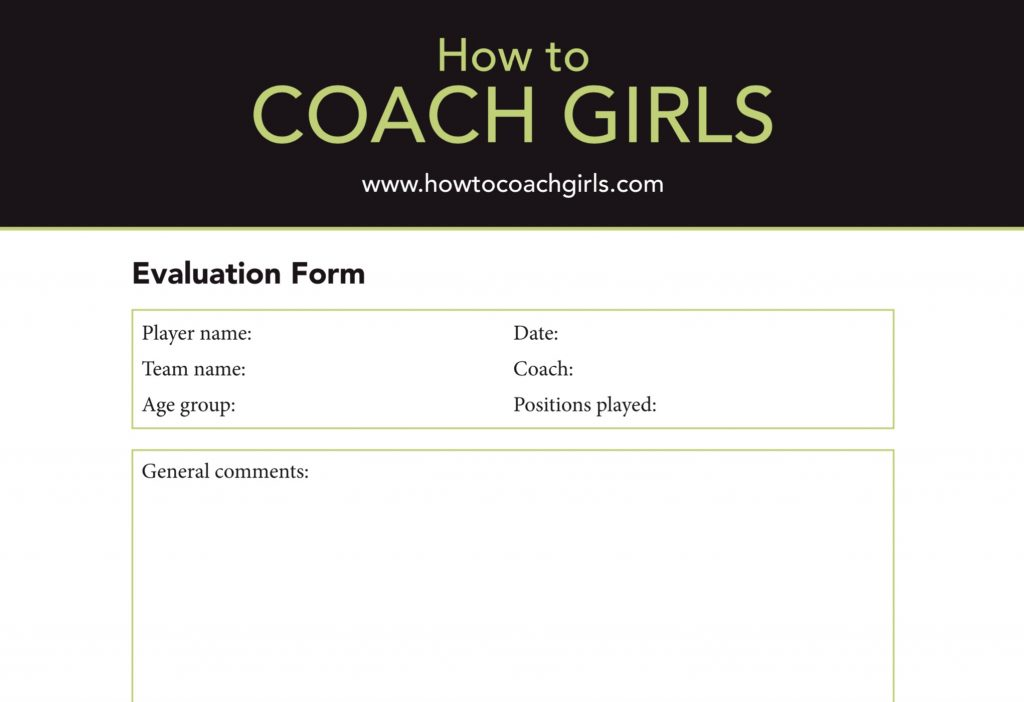 Player Evaluation Downloadable Form
