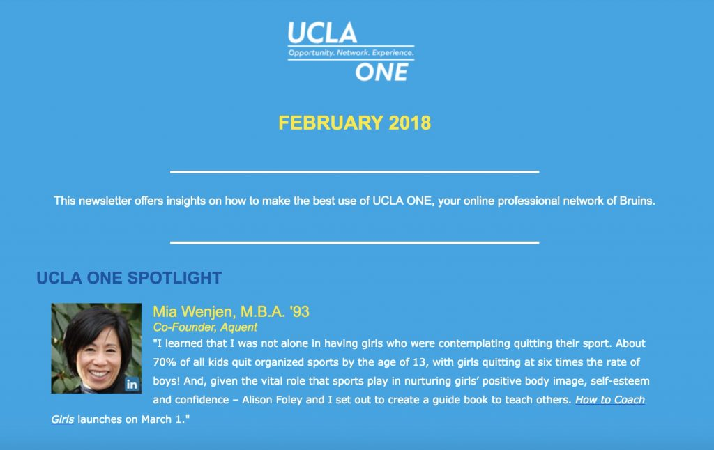 UCLA ONE Spotlight Mia Wenjen How To Coach Girls