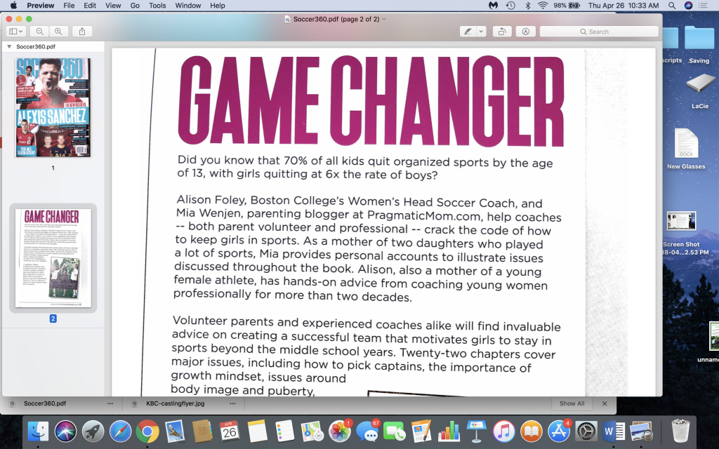 How to Coach Girls GAME CHANGER in Soccer 360 Magazine