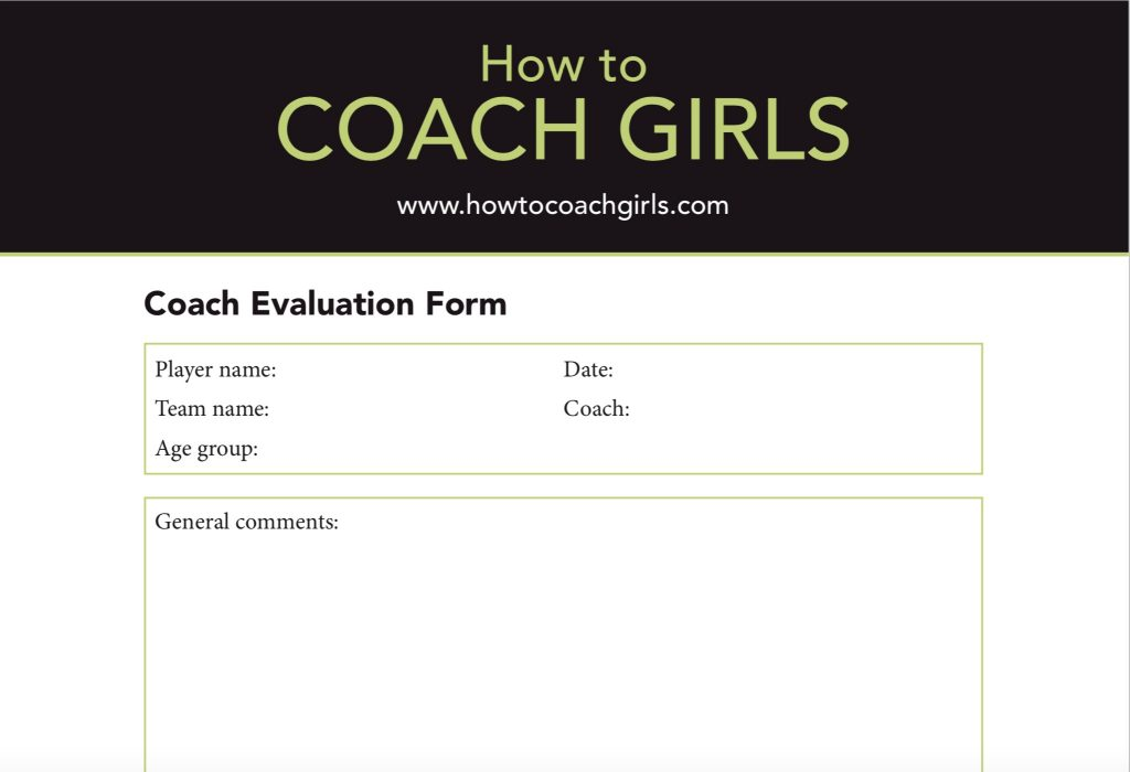 Coach Evaluation Downloadable Form
