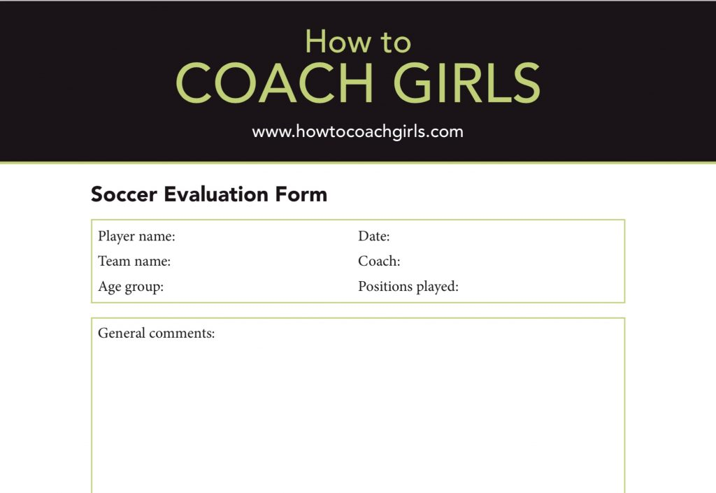 How To Coach Girls FREE Soccer Player Evaluation Form