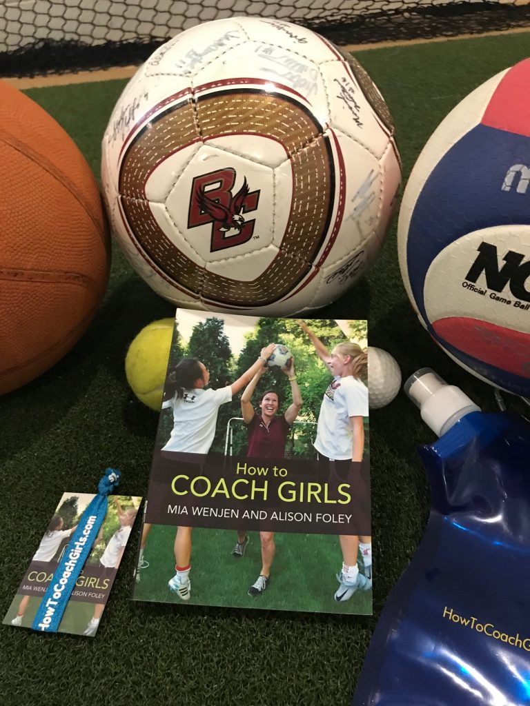 Win How To Coach Girls book and swag