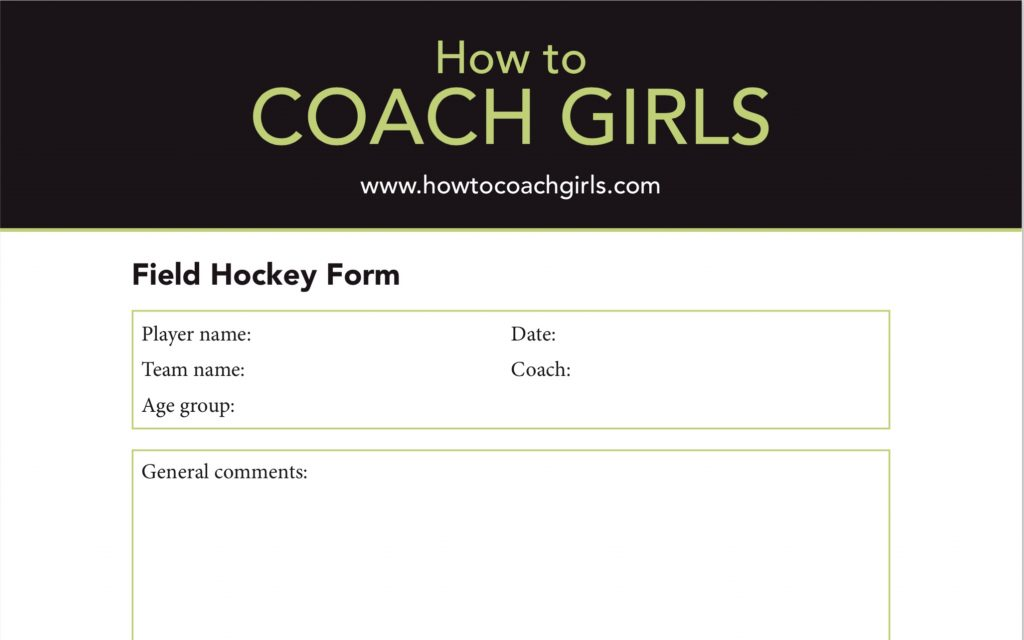 Field Hockey Player Evaluation Form