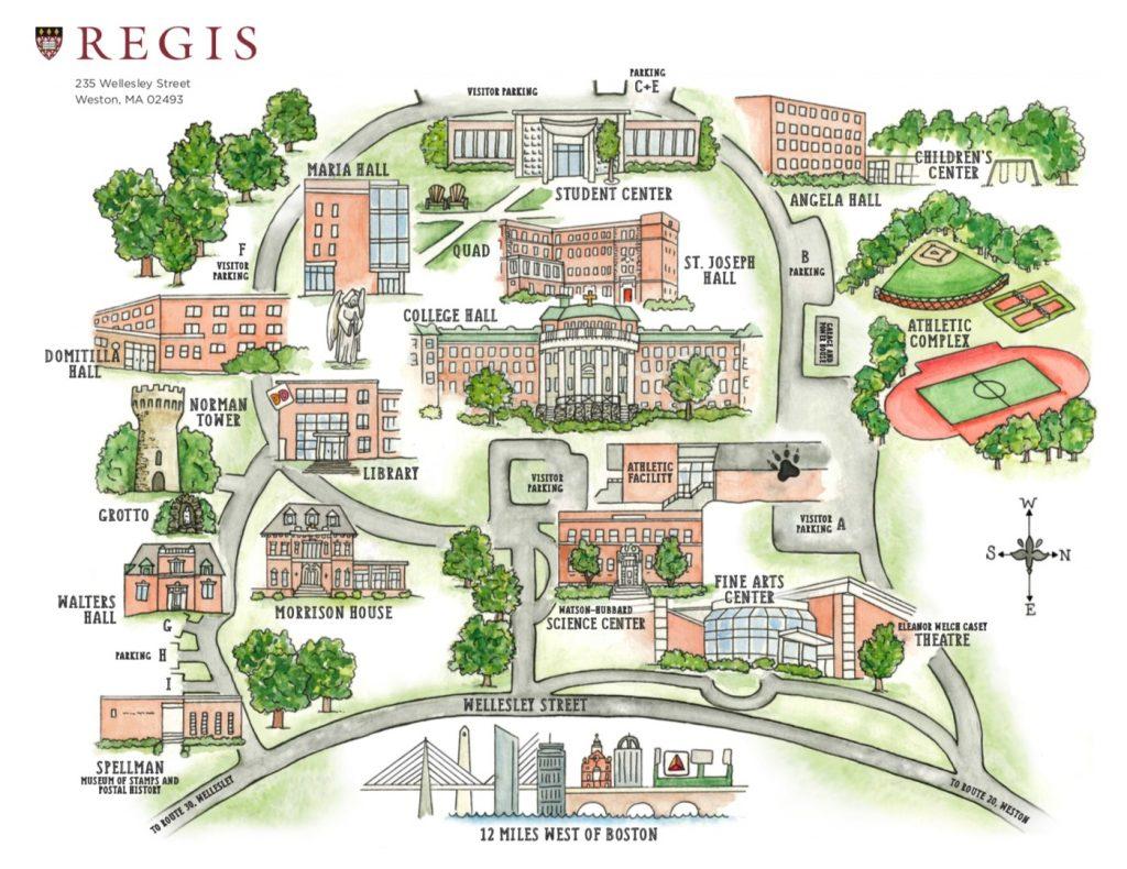 Regis College Map