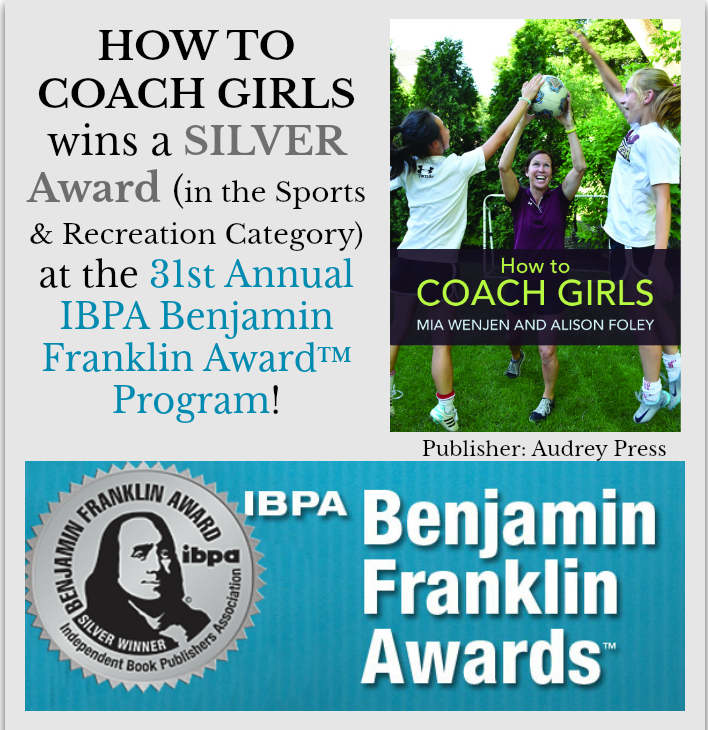 How To Coach Girls wins Benjamin Franklin Award™